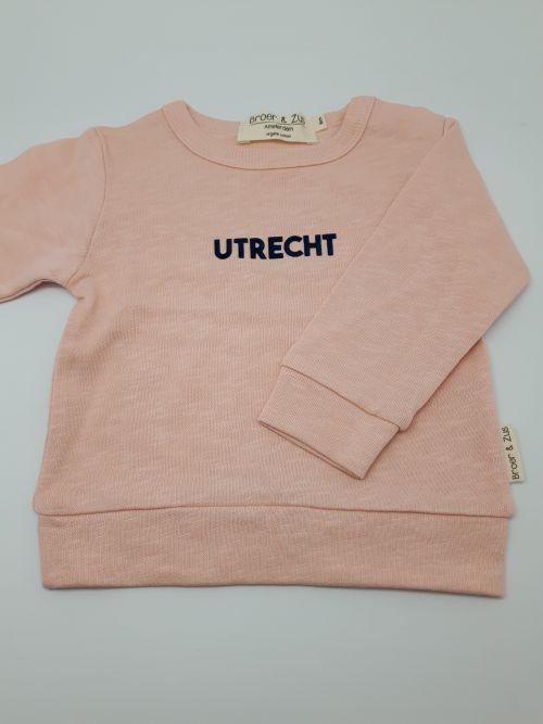 Sweater Utrecht nude navy flock 6 maanden
