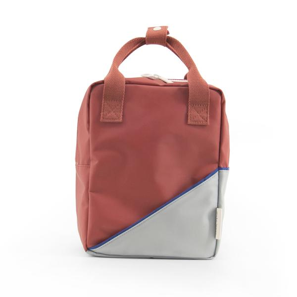 Backpack diagonal small faded red/powder blue