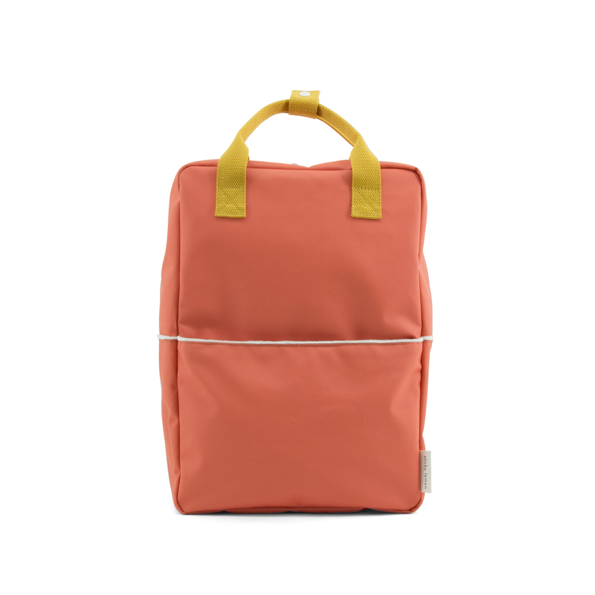 Backpack teddy large sporty red caramel fudge