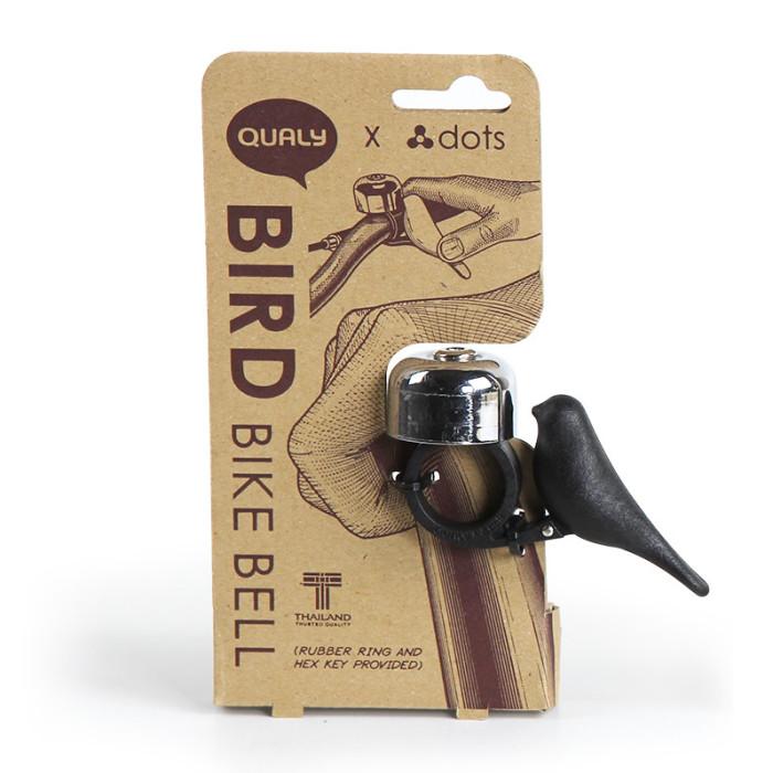 Bird bike bell black