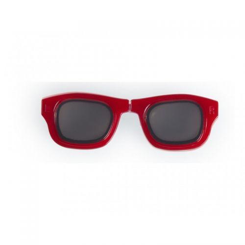 Glasses lens holder red