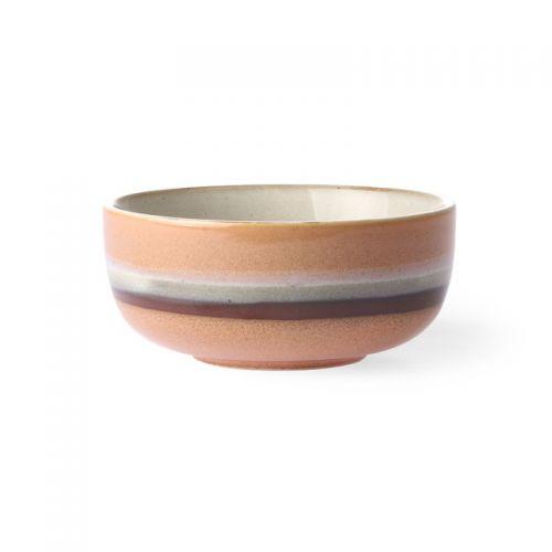 Ceramic 70's bowl medium tornado