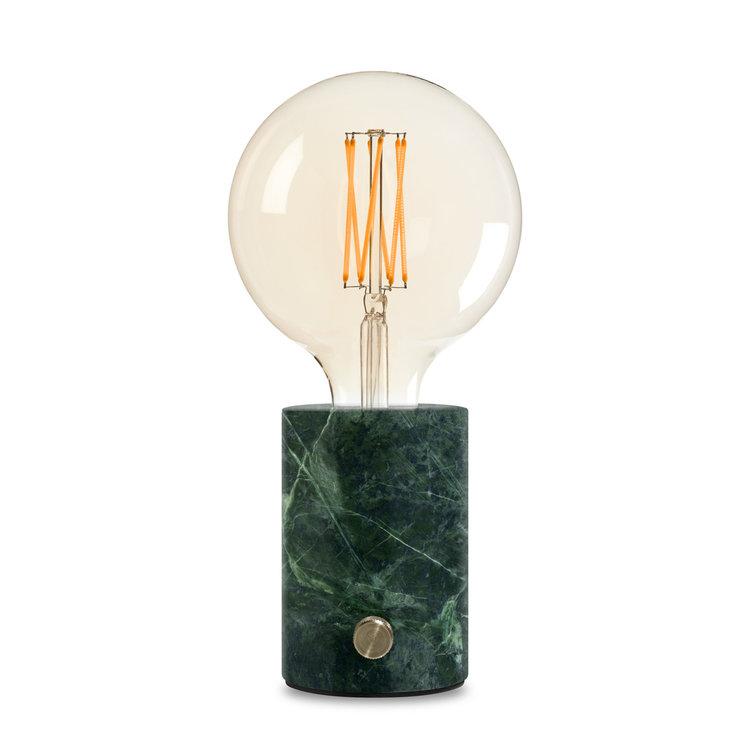 Orbis lamp green marble