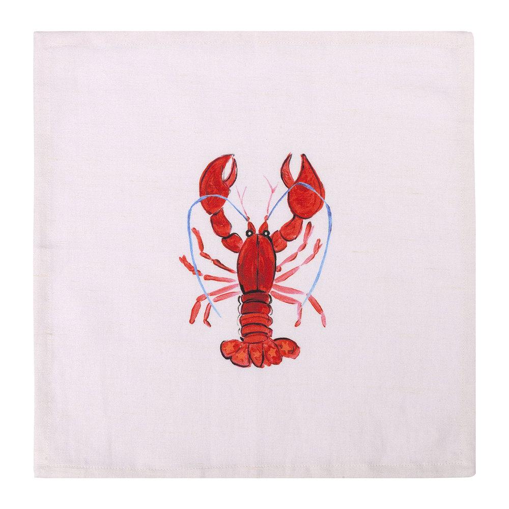 Napkin lobster 35x35cm