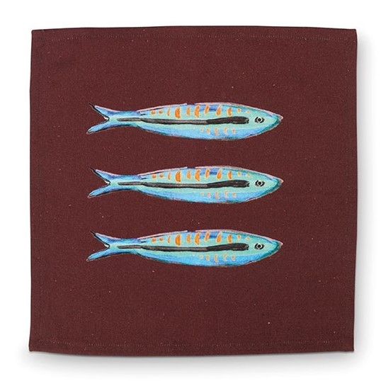 Napkin sardine 35x35cm