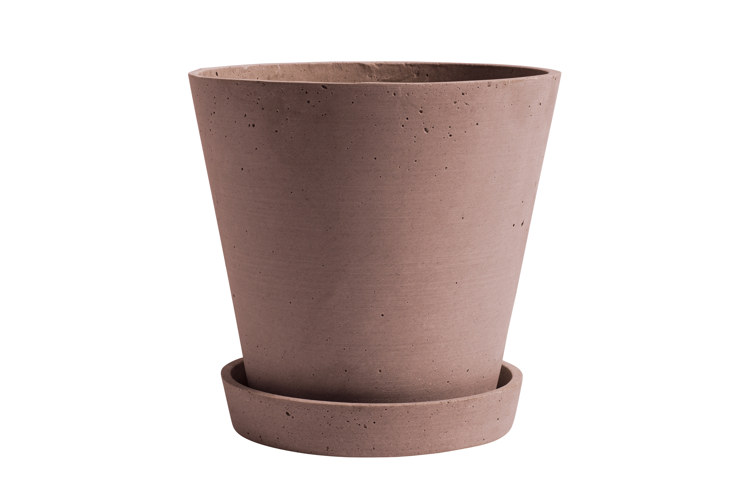 Flowerpot with saucer XL terracotta