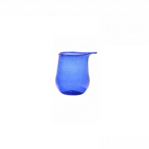 recycled glass vase cobalt small