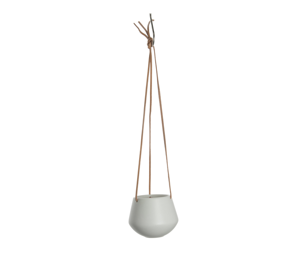 Hanging pot skittle small matt white