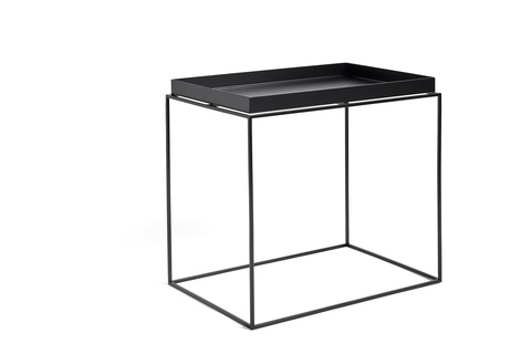 Hay Tray Table Side Table L Black