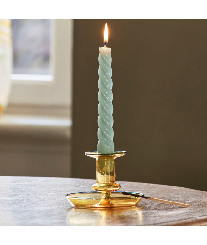 candle spiral arctic blue