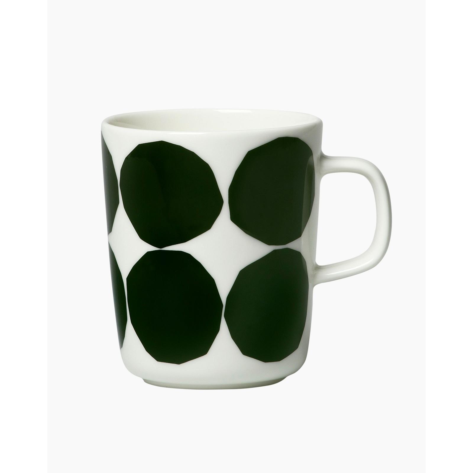 Kivet mug 2,5dl white/dark green