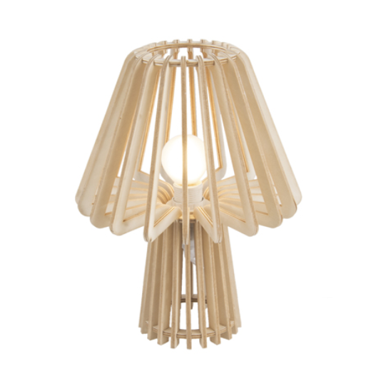 Table lamp edged mushroom natural