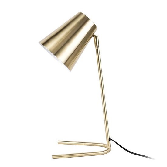Table lamp noble metal brushed gold