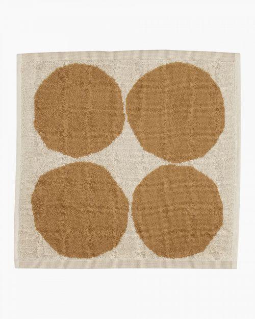 Marimekko Kivet Mini Towel 30x30 Beige/Yellow
