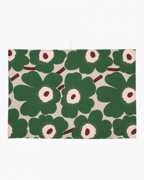 Marimekko Pieni Unikko Kitchen Towel 2pcs beige/green/peach