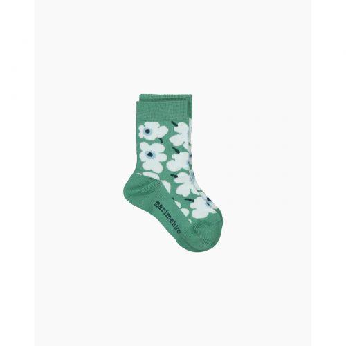 Marimekko Umika Socks Unikko Green 25-27