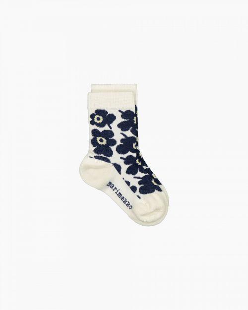 Marimekko Umika Socks Unikko White Blue 25-27