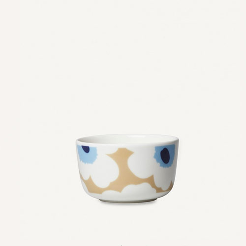 Marimekko Unikko Bowl 2,5dl Beige/Off White/Blue