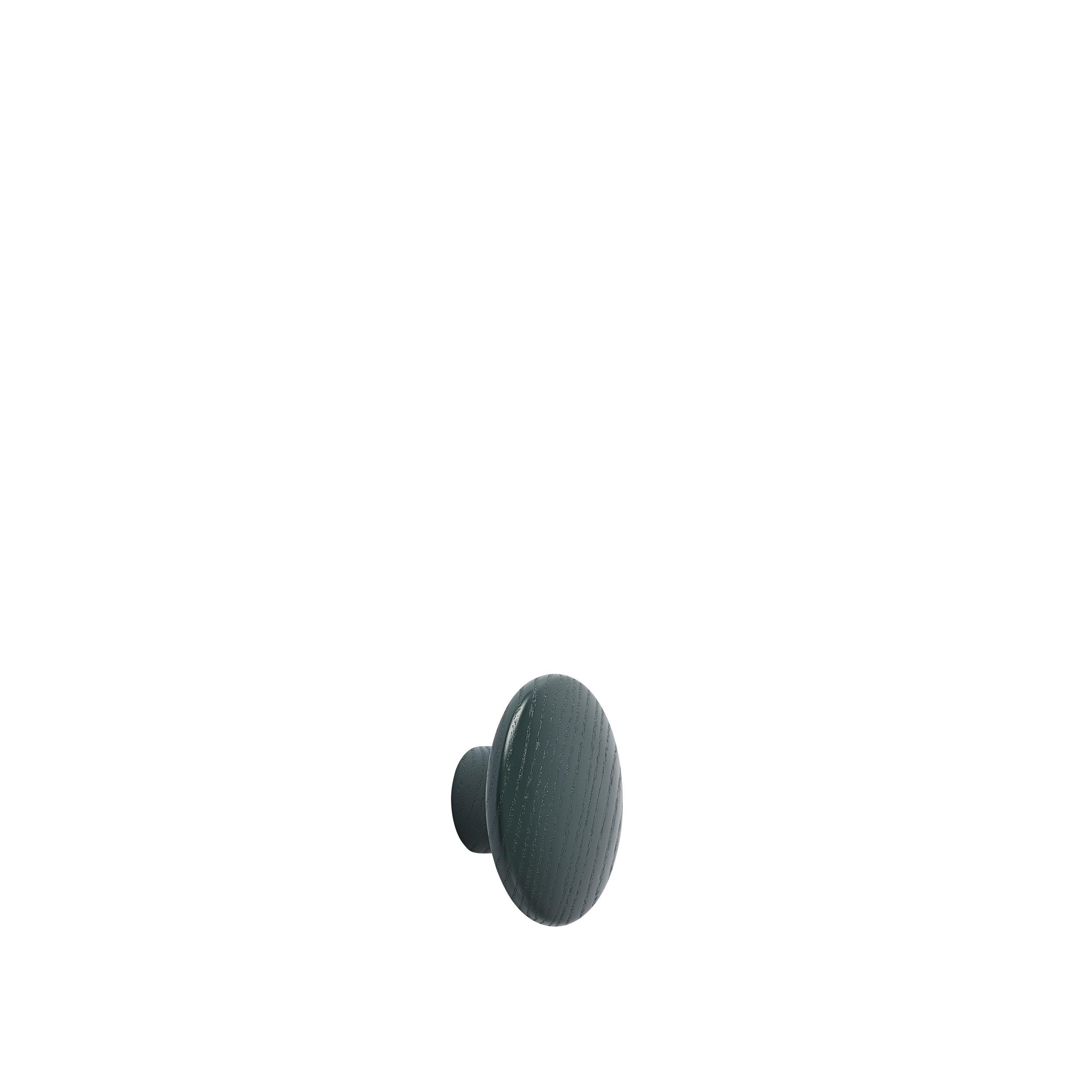 Dot wood X-small Ø 6,5 cm dark green