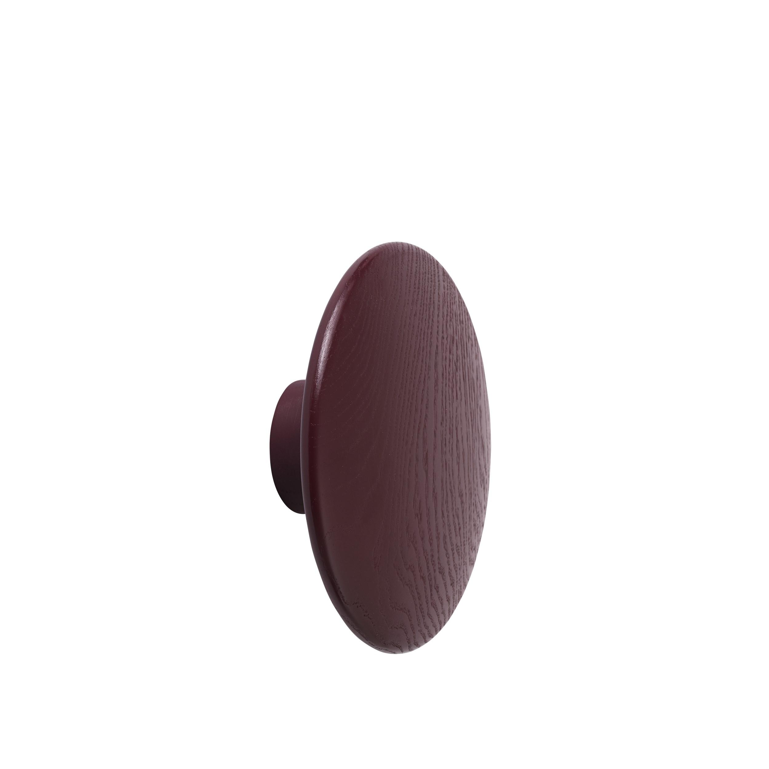 Dot wood large Ø 17 cm burgundy