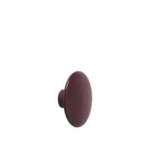 Dot wood medium Ø 13 cm burgundy