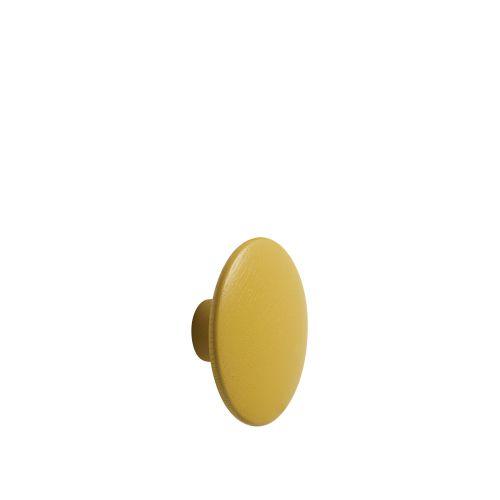 Dot wood medium Ø 13 cm mustard
