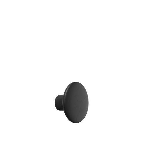 Dot wood small Ø 9 cm black