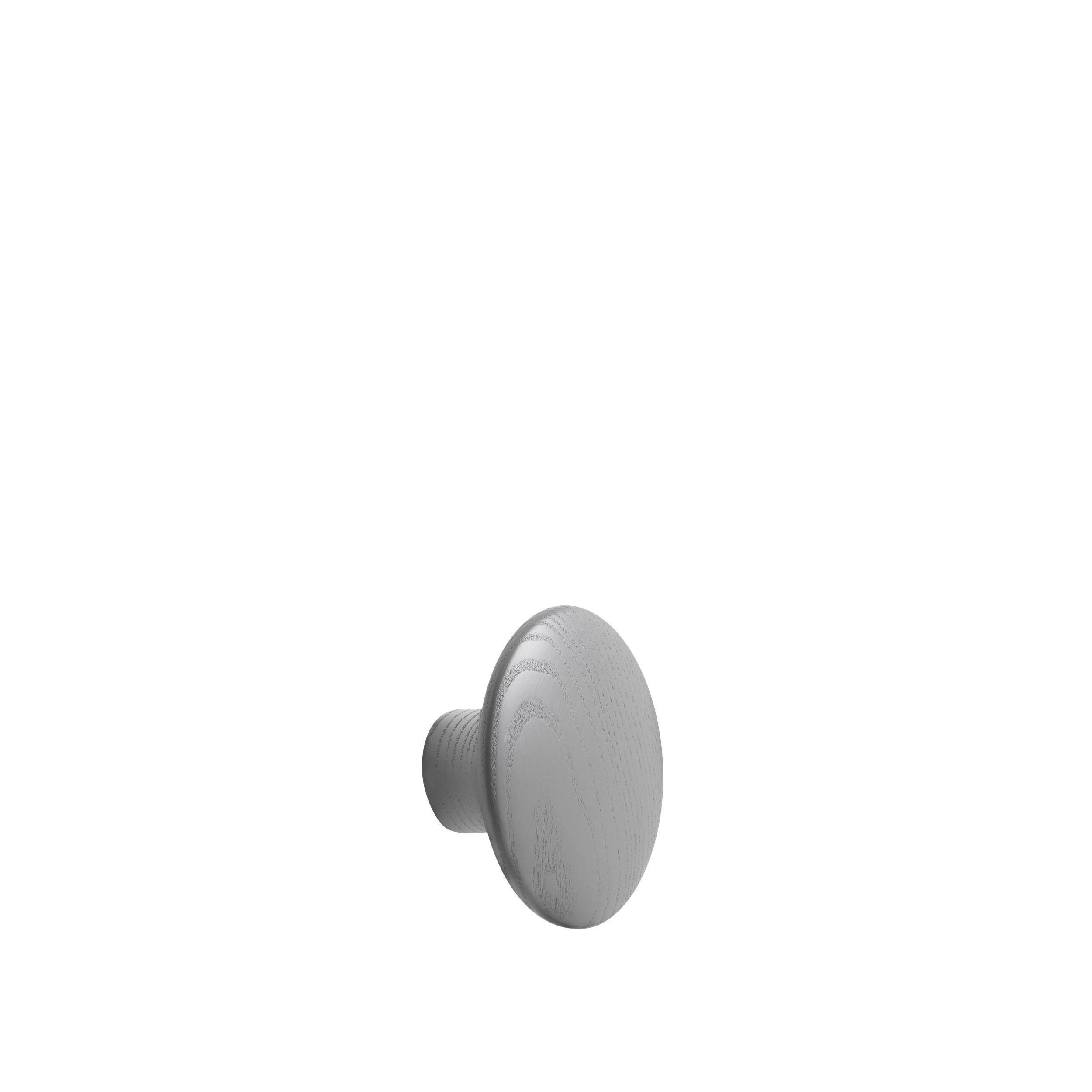 Dot wood small Ø 9 cm dark grey