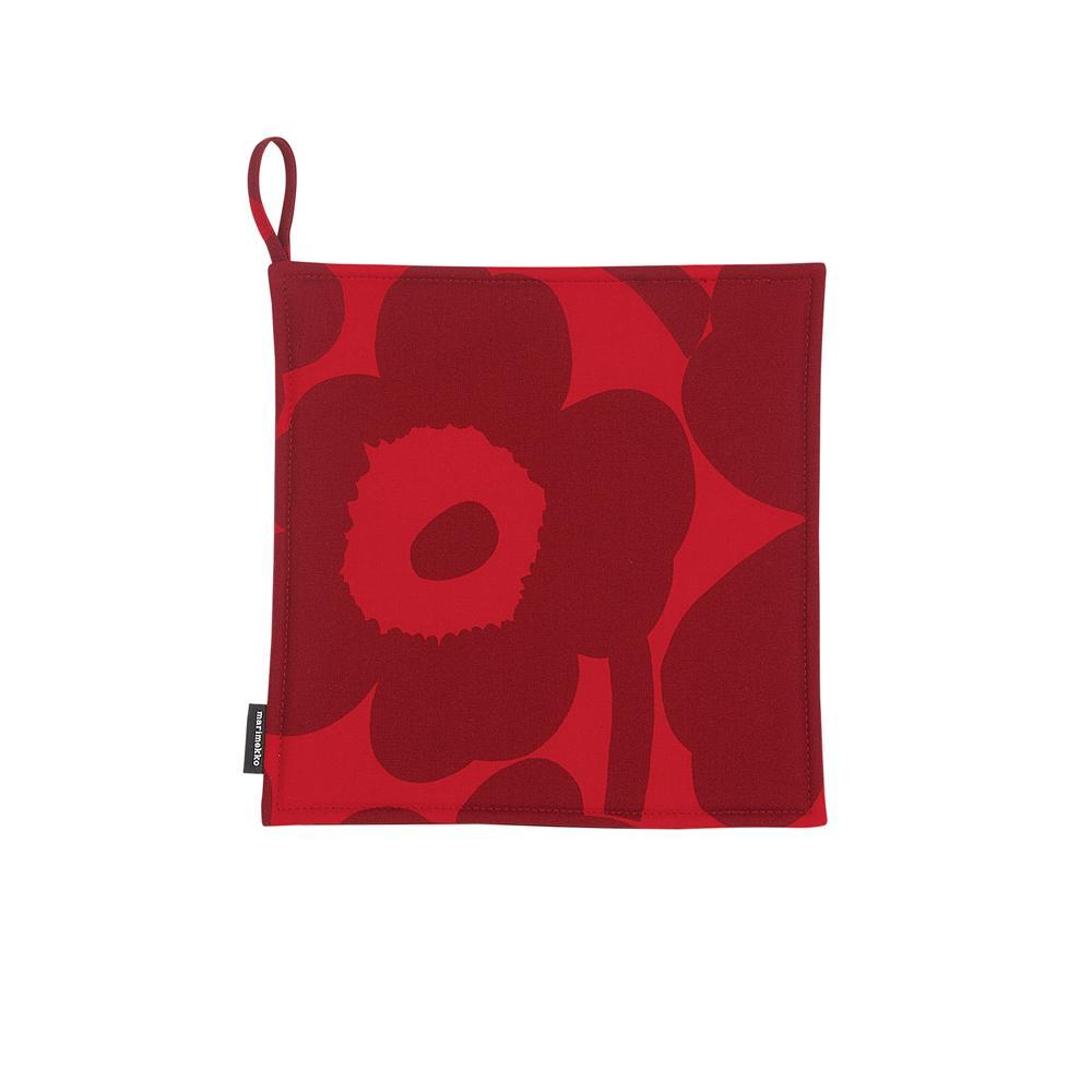 Pieni Unikko pot holder red/dark red