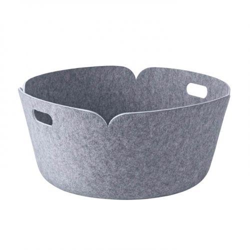 Restore basket round grey melange