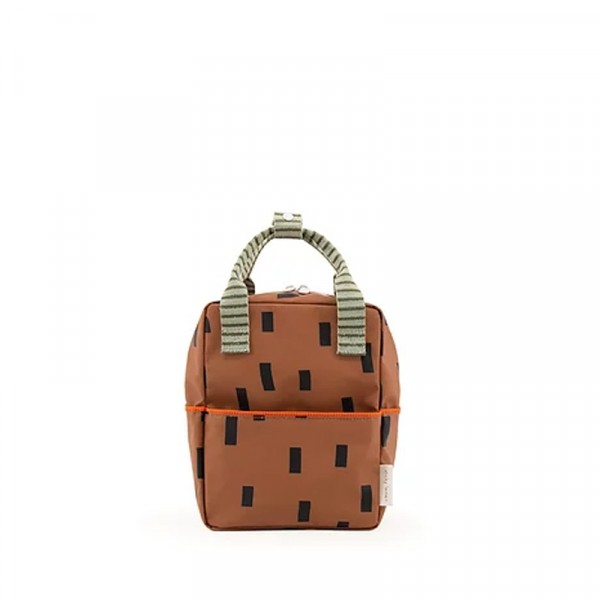 Backpack small sprinkles special edition - cinnamon brown + sage green + royal orange