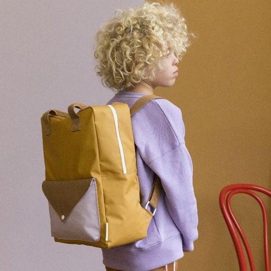 Backpack envelope L caramel fudge sugar brown violet