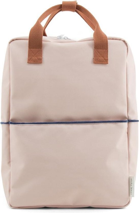 Backpack teddy large soft pink/ rusty red