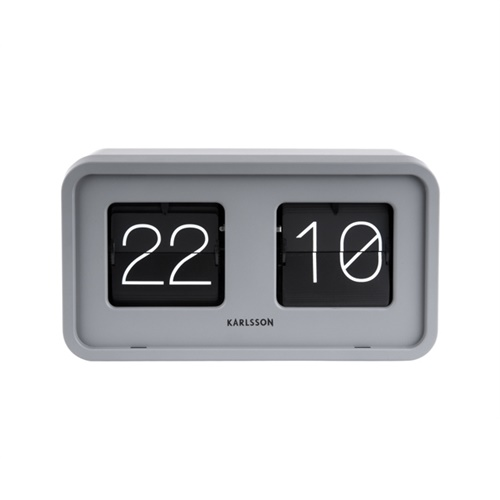 Table clock Bold Flip matt grey