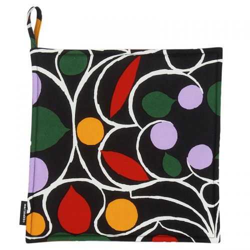 Talvipalatsi pot holder black/yellow/green/purple