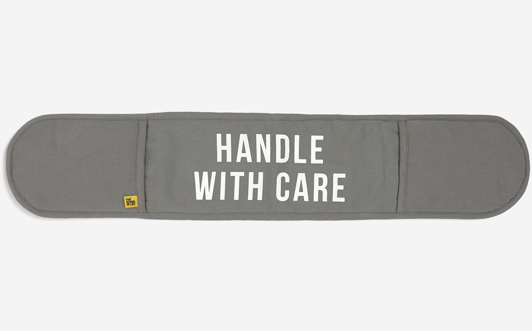 Handle with care oven glove