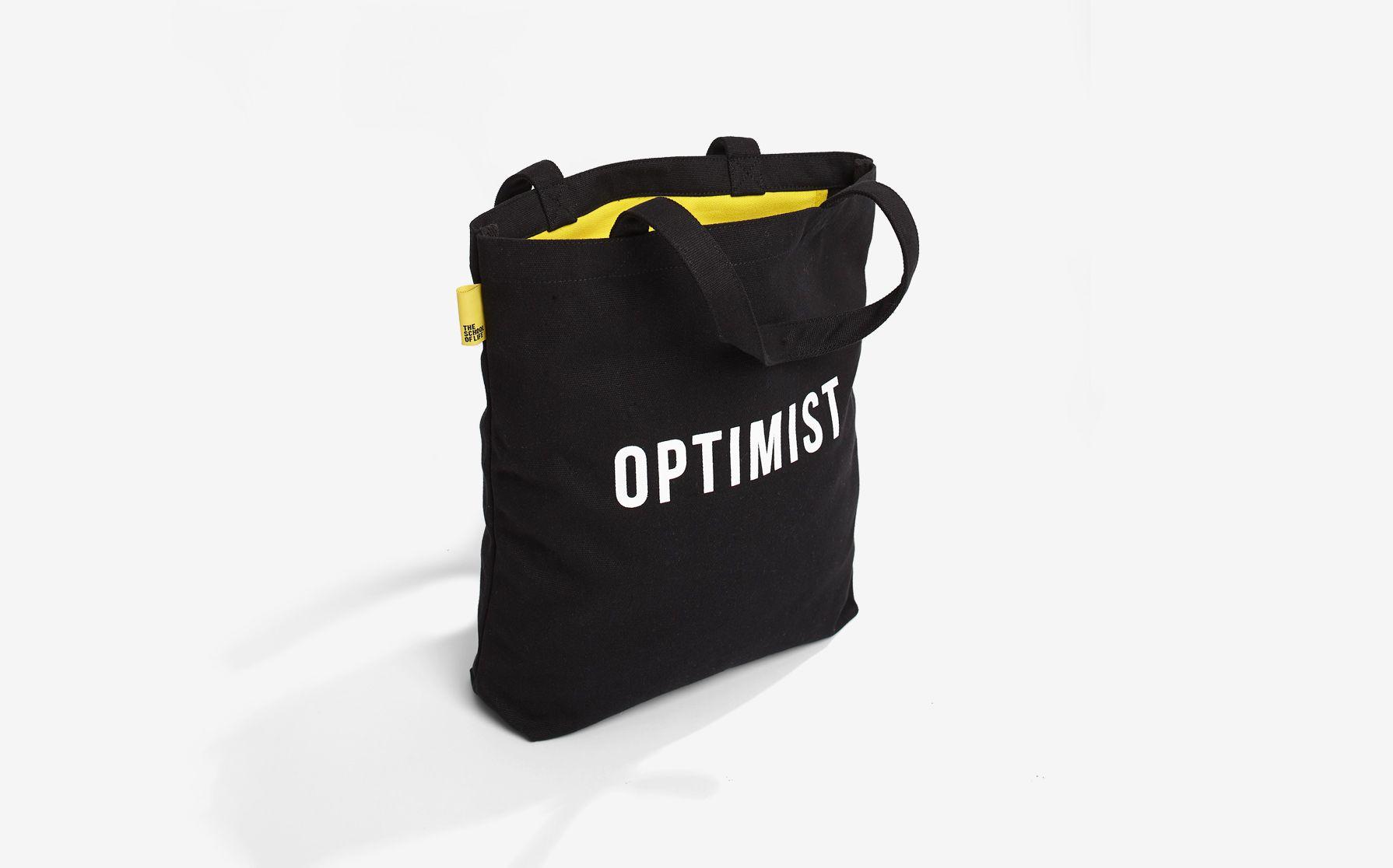 Optimist / pessimist tote bag