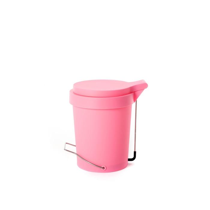 Trash can Tip 7 L. pink