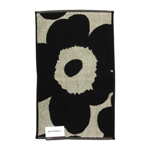 Unikko guest towel 30x50 cm black/sand