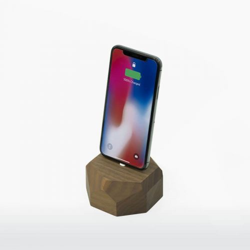 Iphone dock walnut