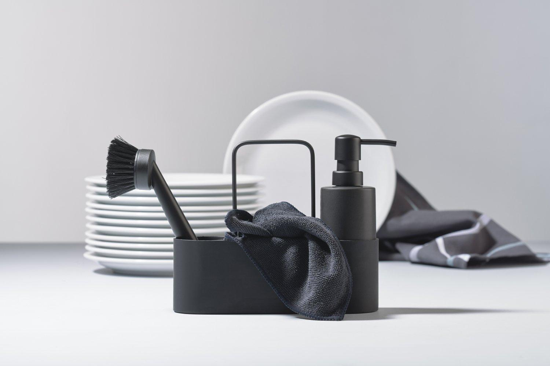Dishwashing set of 4 black singles
