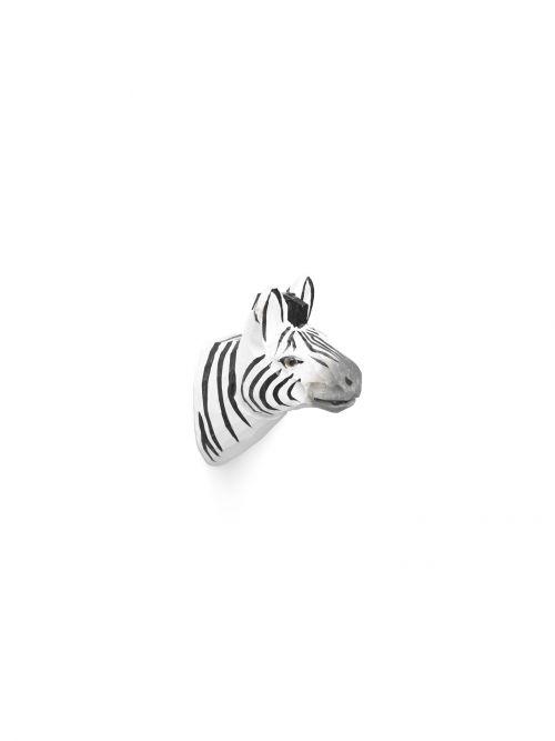 Animal hand-carved hook zebra