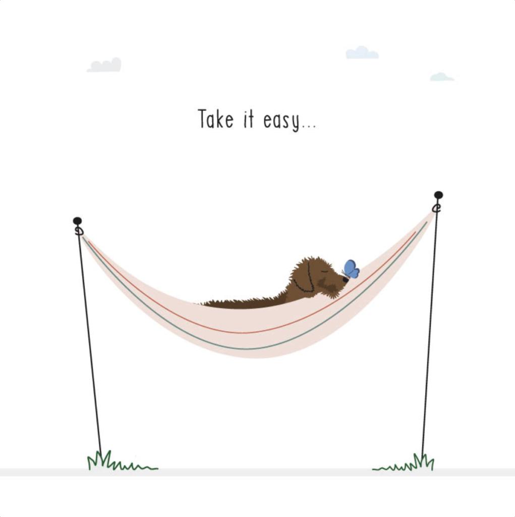 Gevouwen kaart Frits - Take it easy