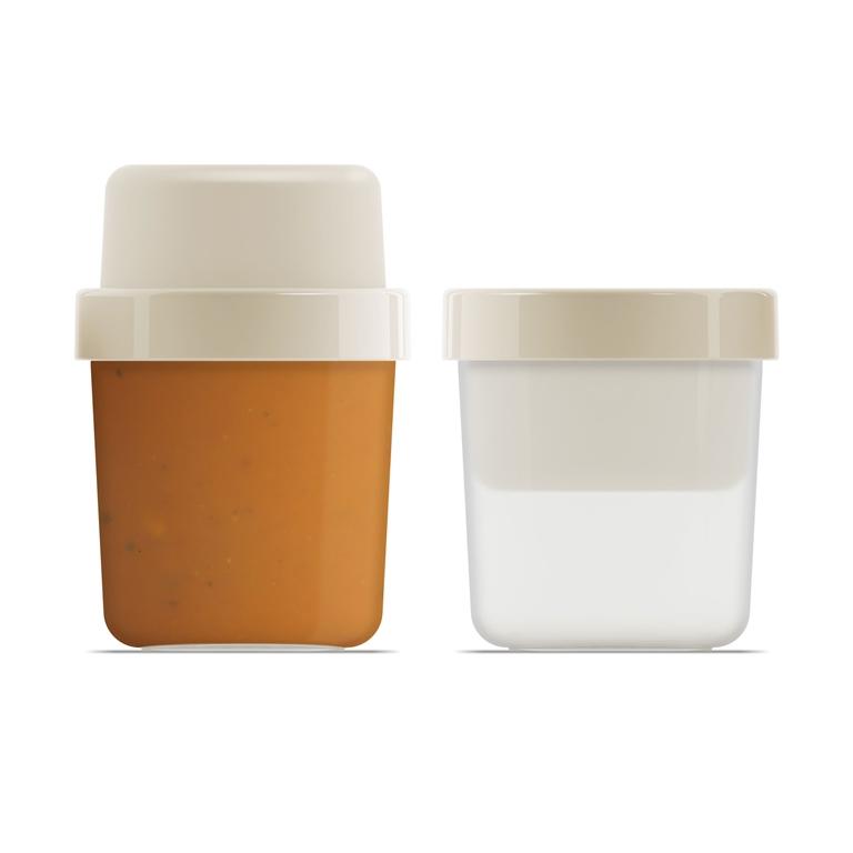 GoEat compact soepbox 2 in 1 grijs