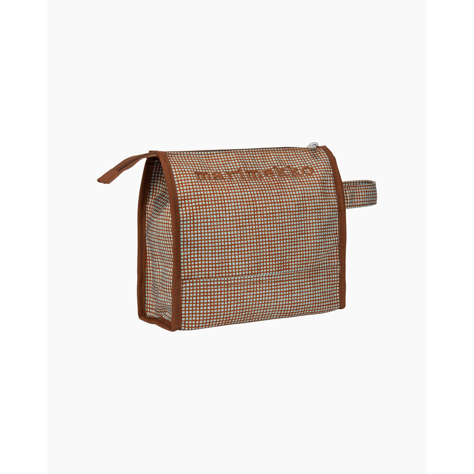 Marimekko Nuuka Verkko Cosmetic Bag Light Blue/Chestnut