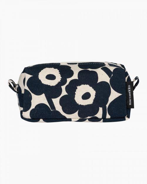 Marimekko Tiise Mini Unikko Cosmetic Bag Dark Blue