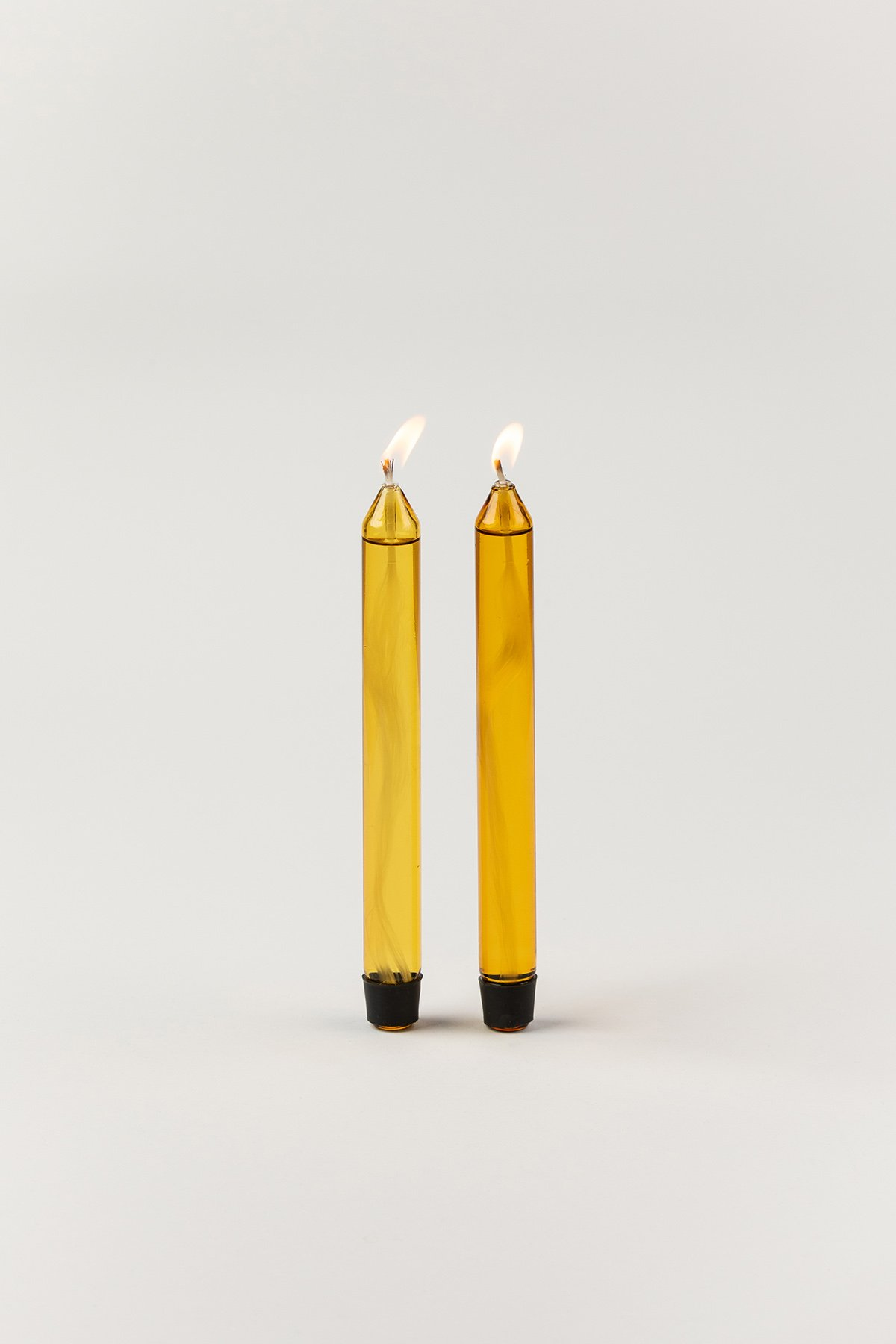 Studio About Glass Candle Oil Yellow 2-pack