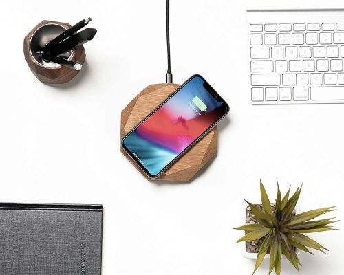 Wireless charger grafisch oak