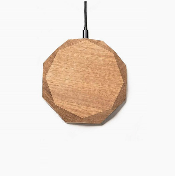 Wireless charger grafisch oak
