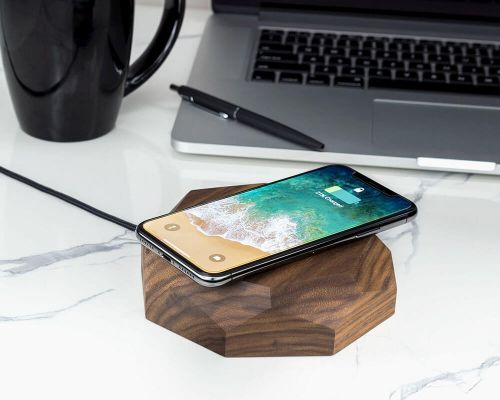 Wireless charger grafisch walnut